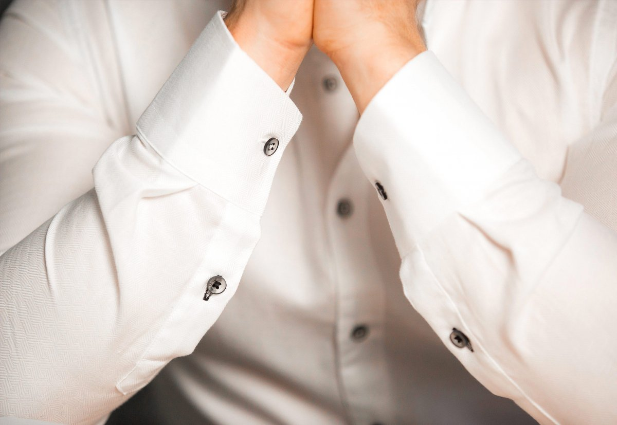 Белая рубашка Trend 02-1061 - Фото 1