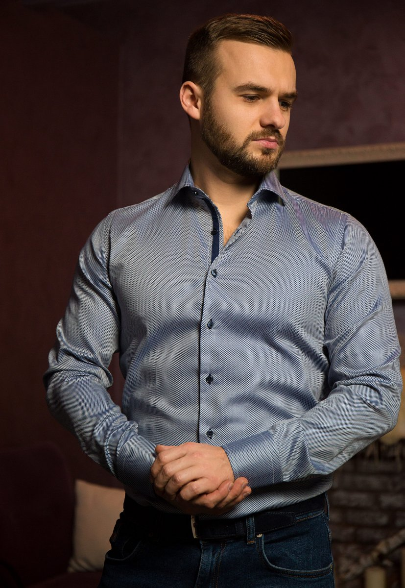 Белая рубашка Trend 02-1083 - Фото