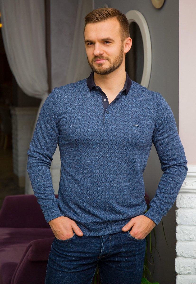 Джемпер синий Trend 8065-03 - Фото