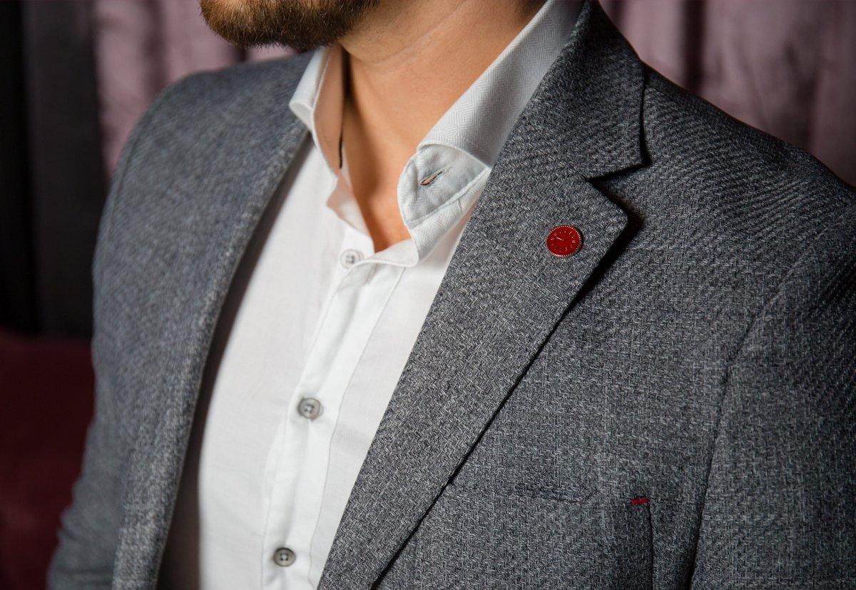 Серый пиджак TREND 9870 - Фото 1