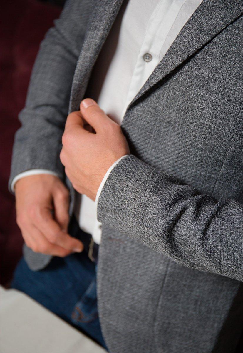 Серый пиджак TREND 9870 - Фото 2