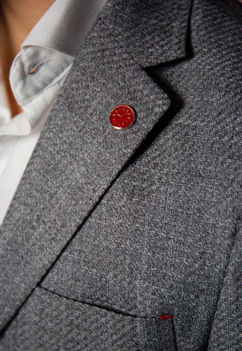 Серый пиджак TREND 9870 - Фото 3