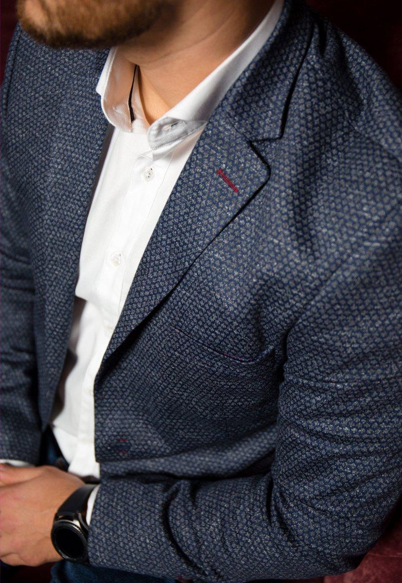 Темно-синий пиджак TREND 500-4664 - Фото 1