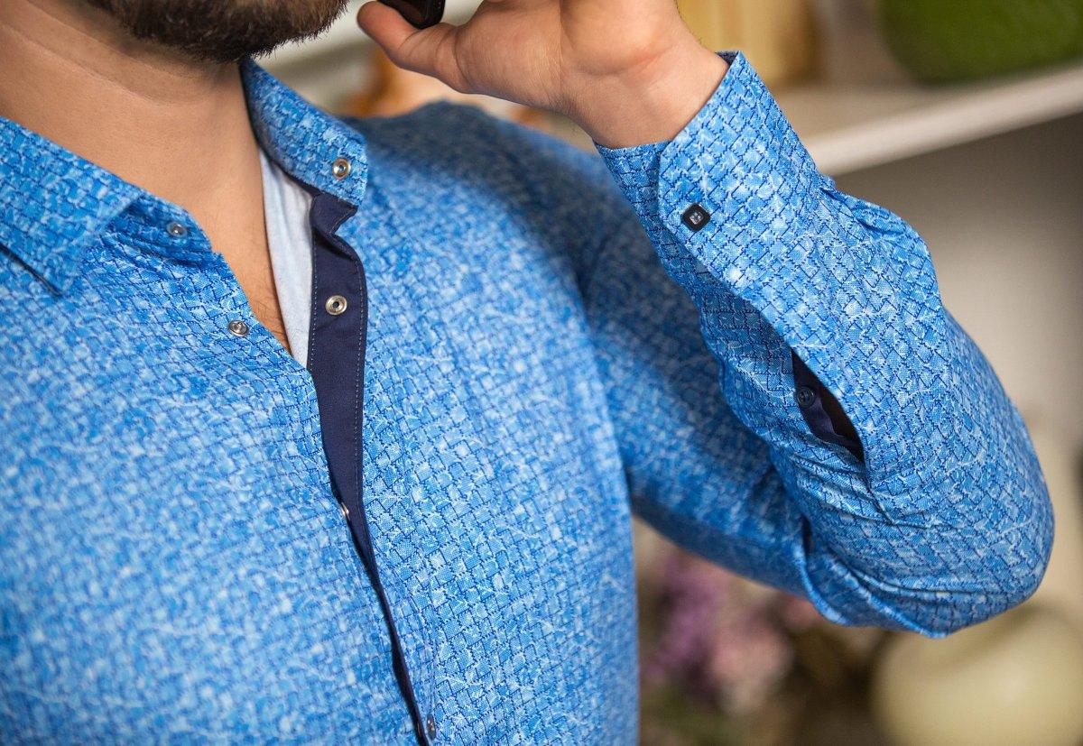 Небесная рубашка Trend 18051-01 - Фото