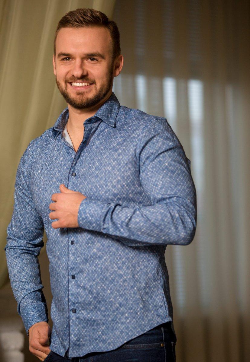 Небесная рубашка Trend 17981-01 - Фото