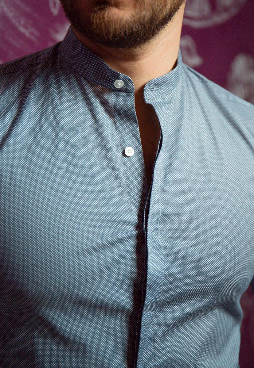 Серая рубашка Trend 02-1096 - Фото 1