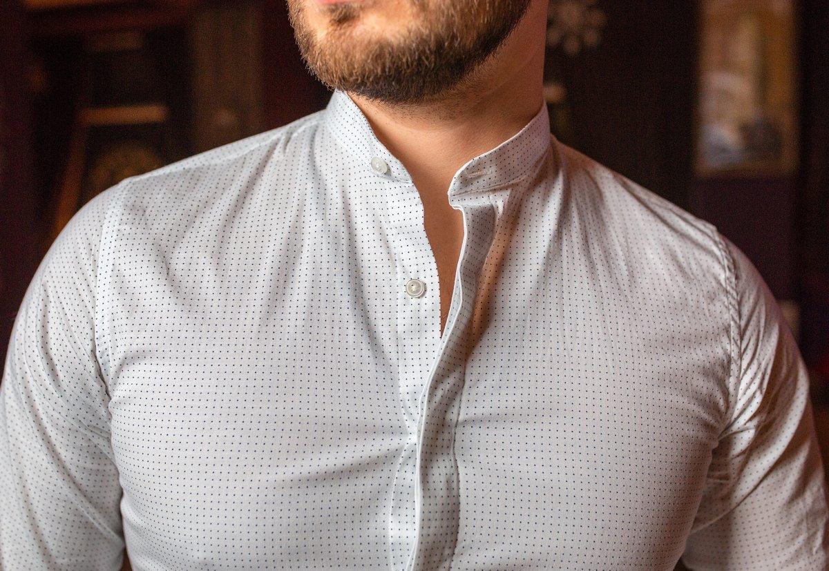 Белая рубашка Trend 02-1096 - Фото 3