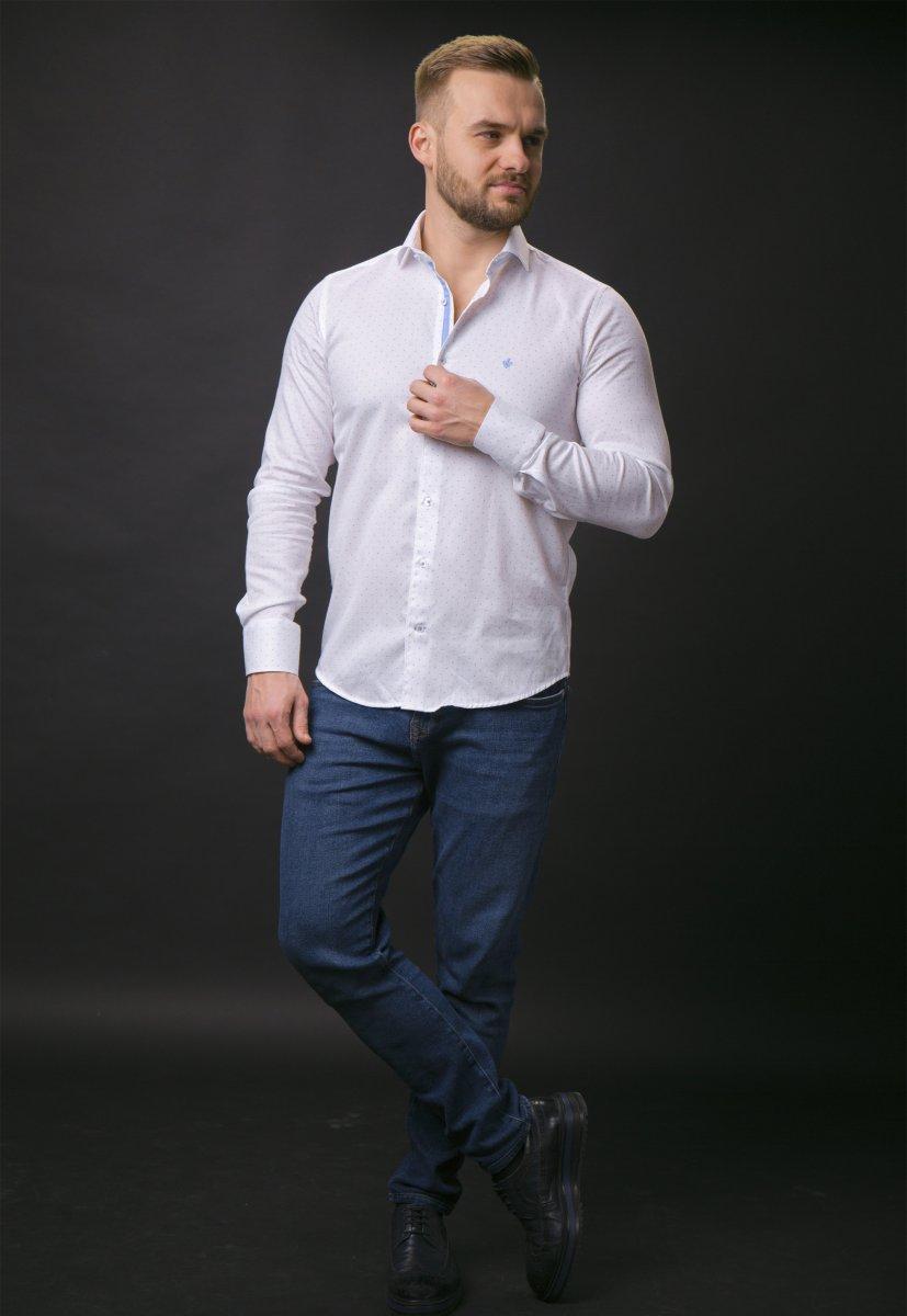 Белая рубашка Trend 02-1061 - Фото