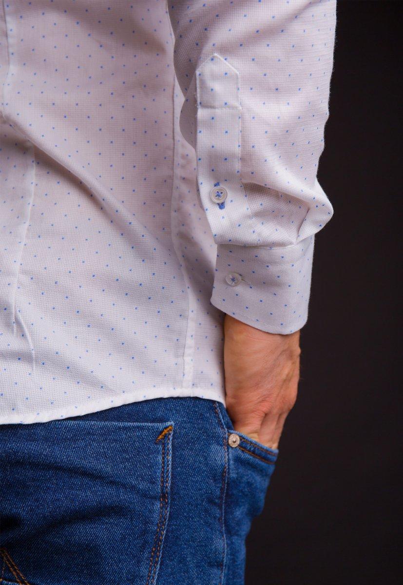 Белая рубашка Trend 02-1061 - Фото 4
