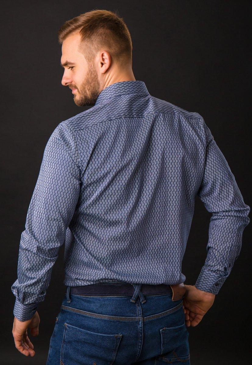 Синяя рубашка Trend 820-1129 - Фото 2