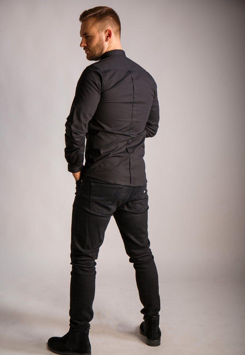 Черная рубашка Trend 02-1096 - Фото 1