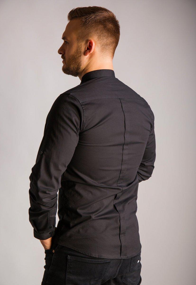 Черная рубашка Trend 02-1096 - Фото 2