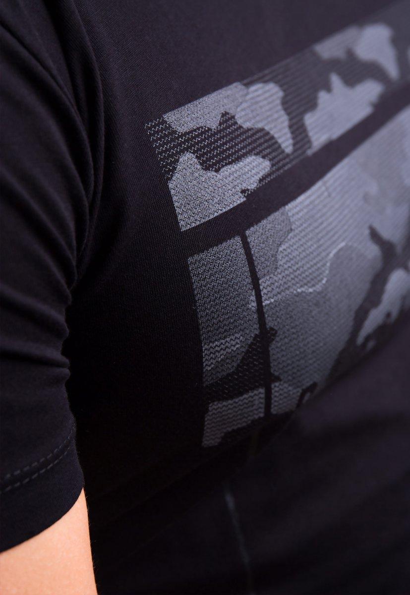 Футболка TWISTER Черный + камуфляж 1192 - Фото 1