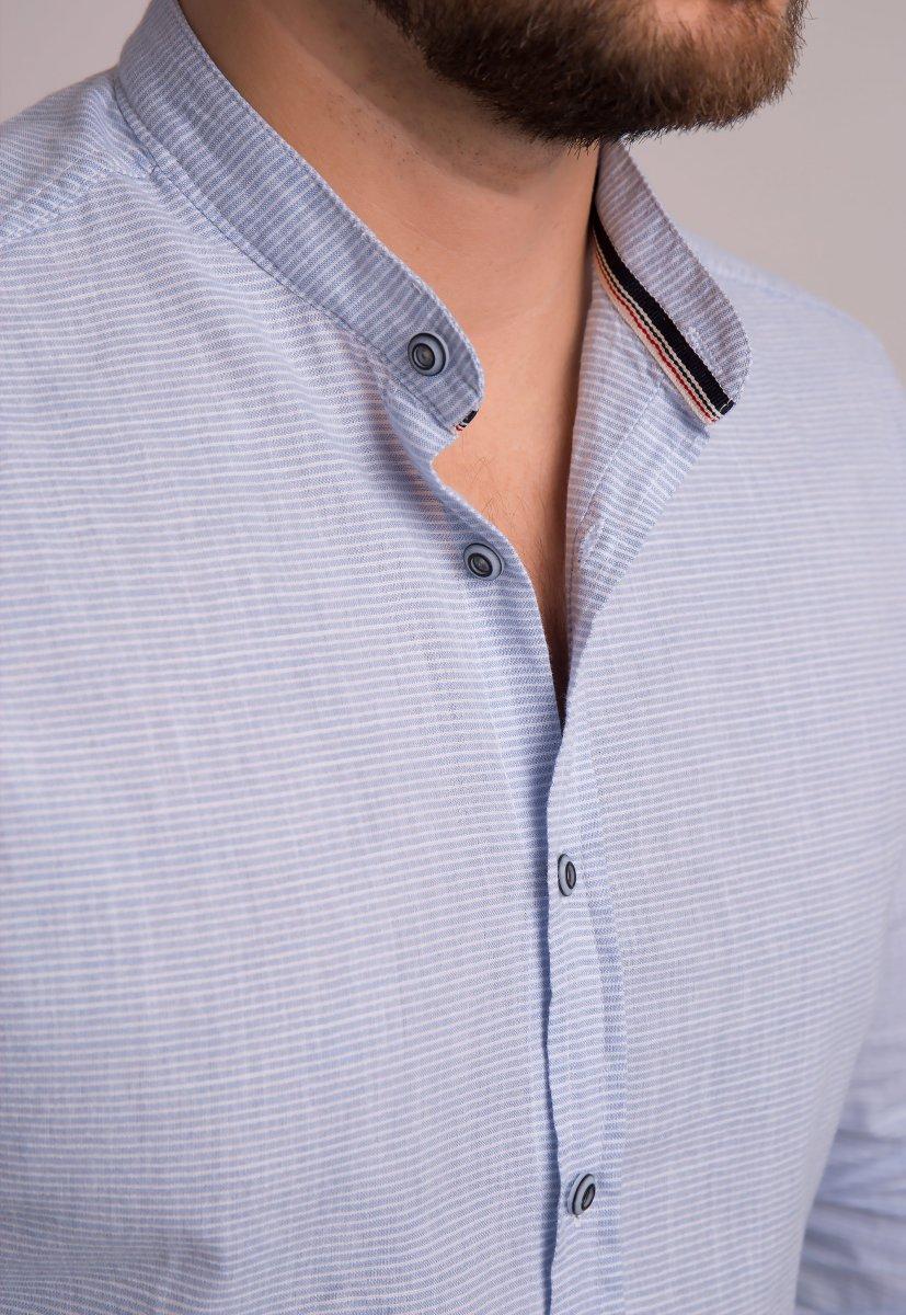 Рубашка Trend Collection 1608 Небесный + полоска - Фото 1