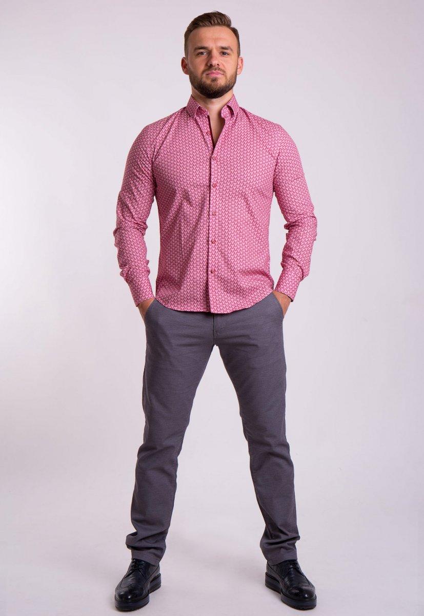 Рубашка TREND Красный + белый 02-1054 - Фото