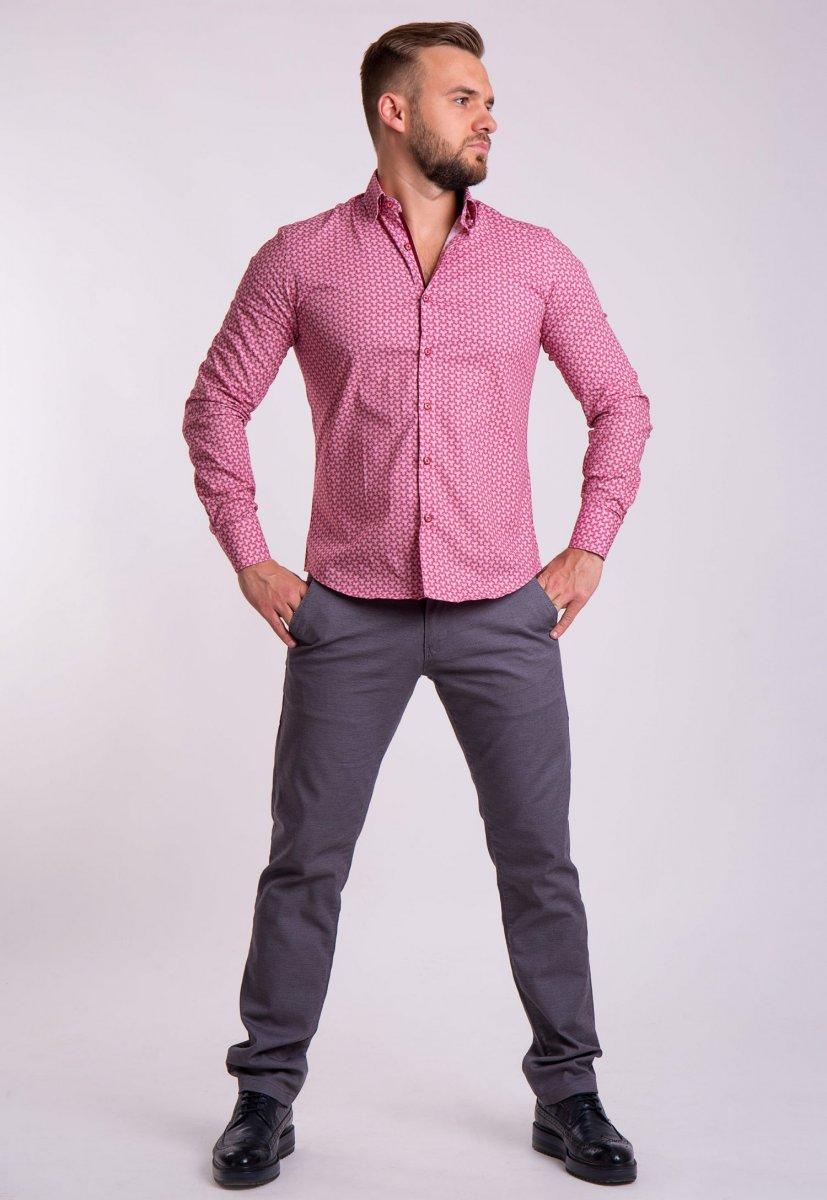 Рубашка TREND Красный + белый 02-1054 - Фото 2