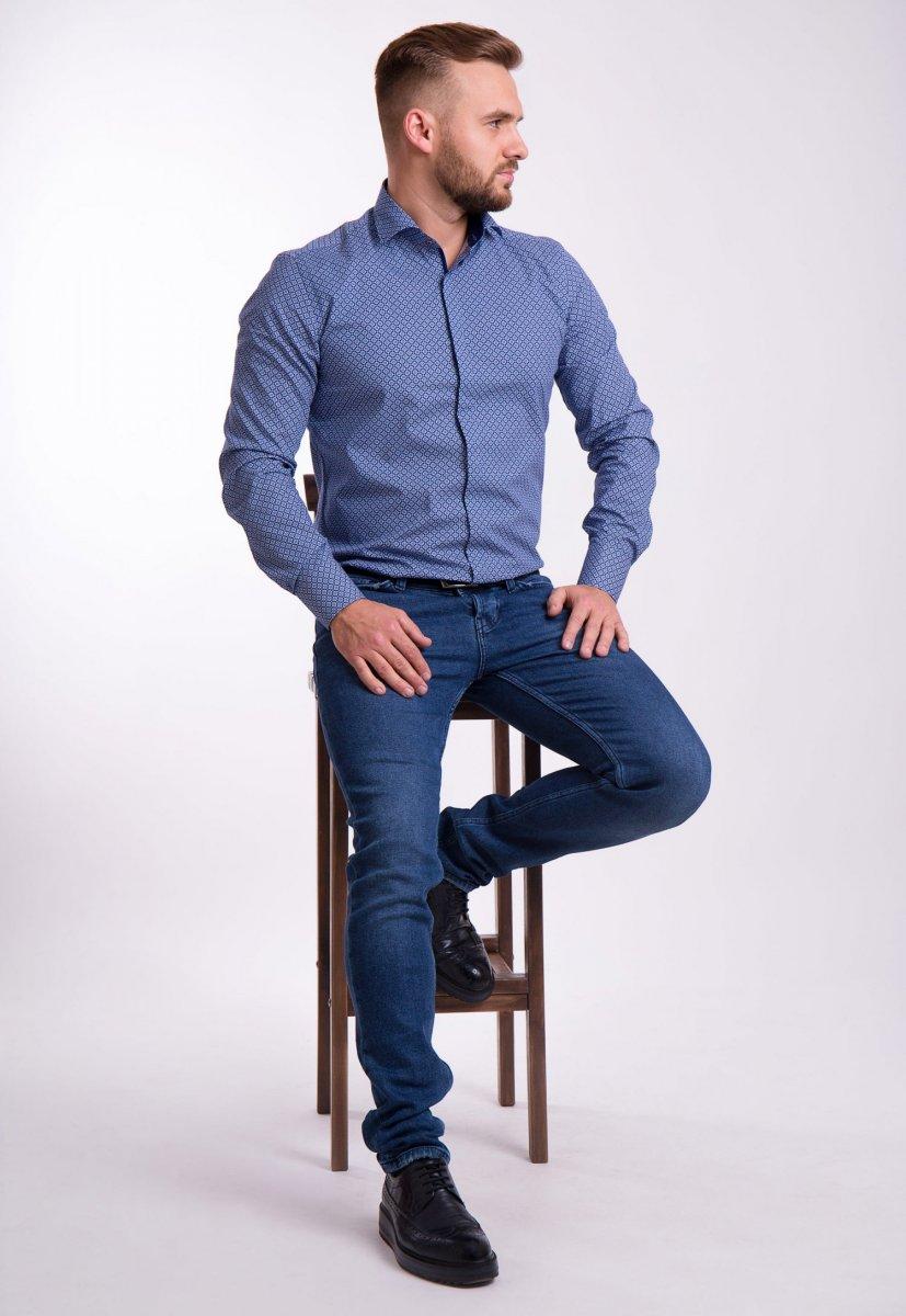 Рубашка TREND Синий + круг 02-1056 - Фото 1