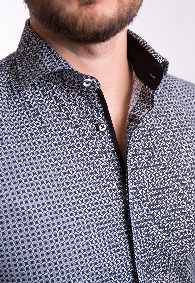 Рубашка TREND Белый + черный 02-1058 - Фото