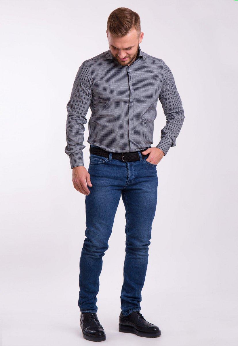 Рубашка TREND Белый + черный 02-1058 - Фото 1