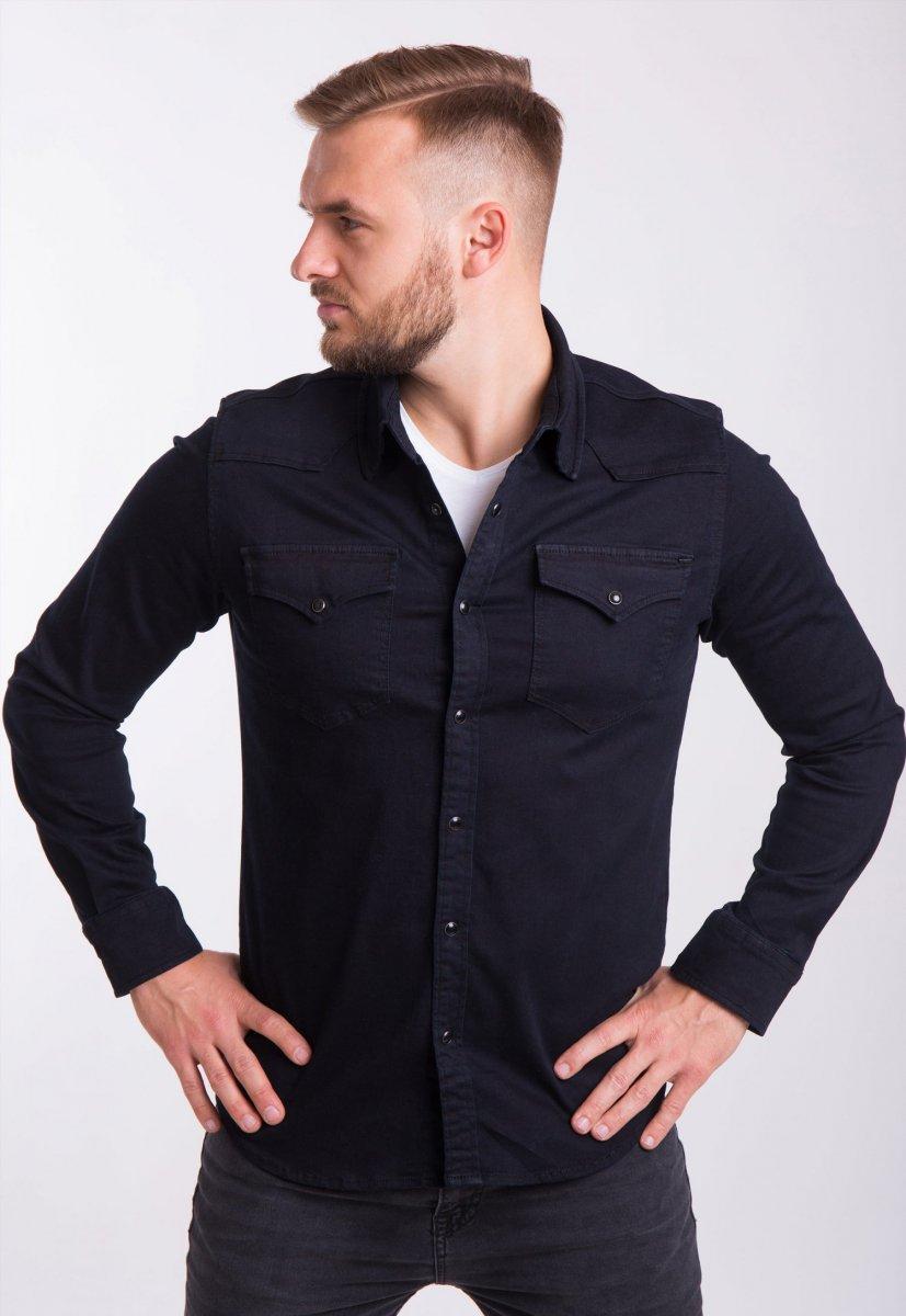 Рубашка INTEGRAL 6871 Черный джинс - Фото 2