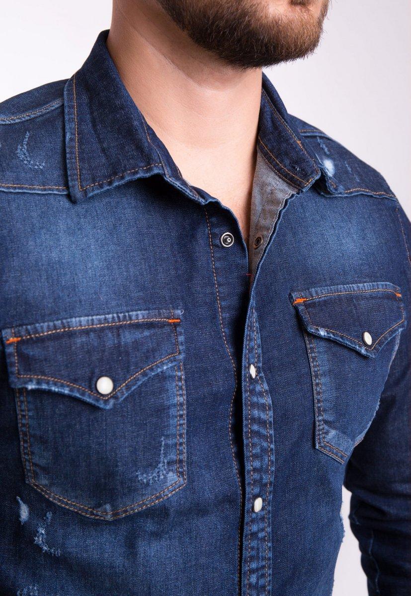 Рубашка INTEGRAL 6667 Темно-синий джинс - Фото 1