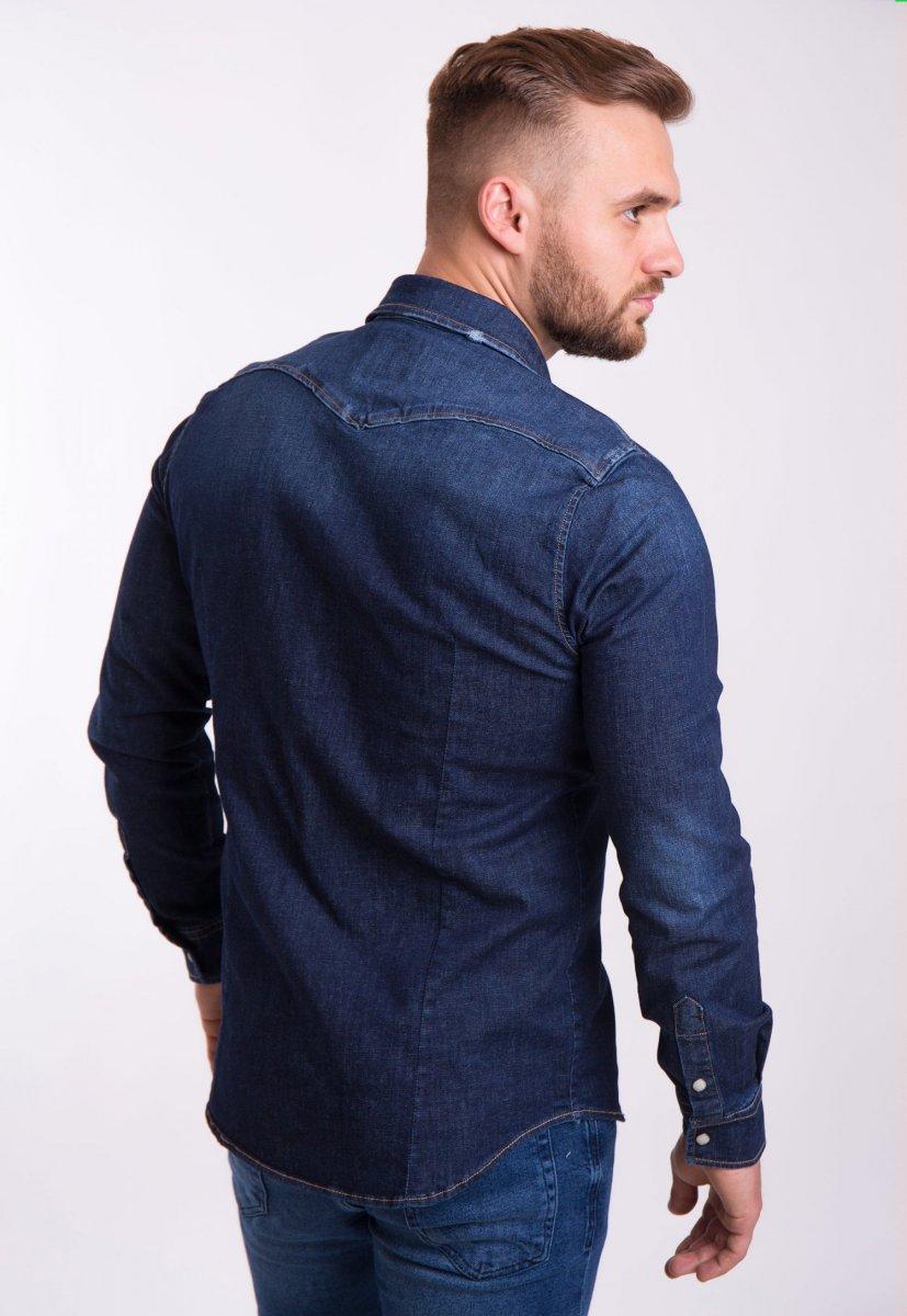 Рубашка INTEGRAL 6667 Темно-синий джинс - Фото 2