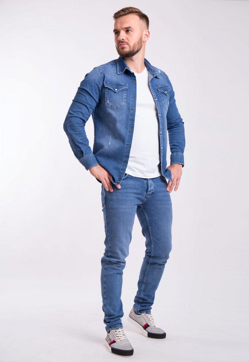 Рубашка INTEGRAL 6573 Синий джинс - Фото