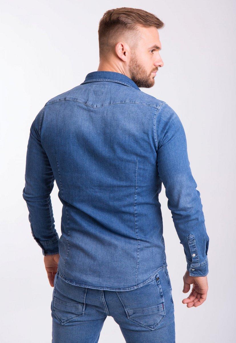 Рубашка INTEGRAL 6573 Синий джинс - Фото 2