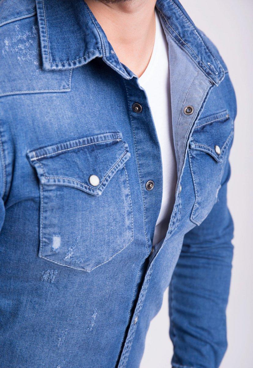 Рубашка INTEGRAL 6573 Синий джинс - Фото 1