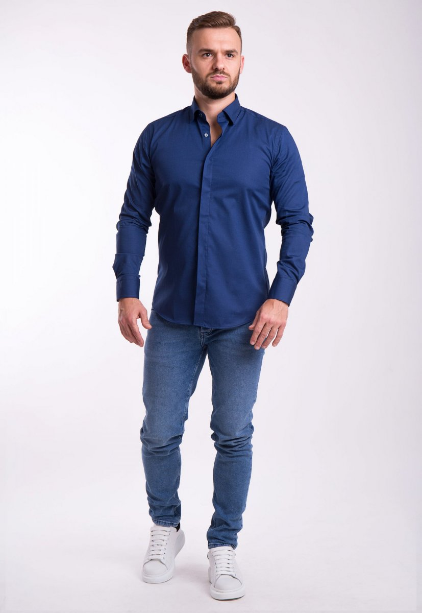 Рубашка Trend Collection U02-1100 Синий - Фото