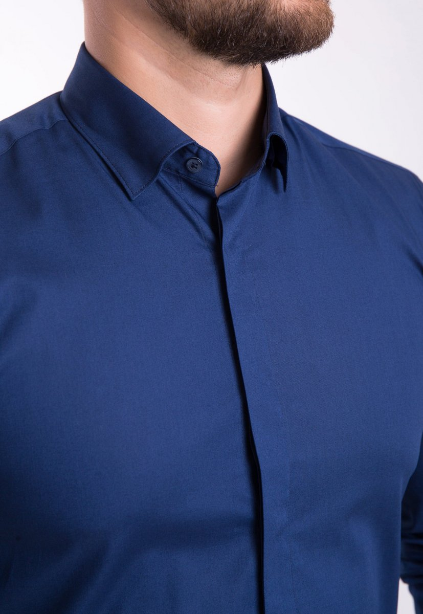 Рубашка Trend Collection U02-1100 Синий - Фото 1