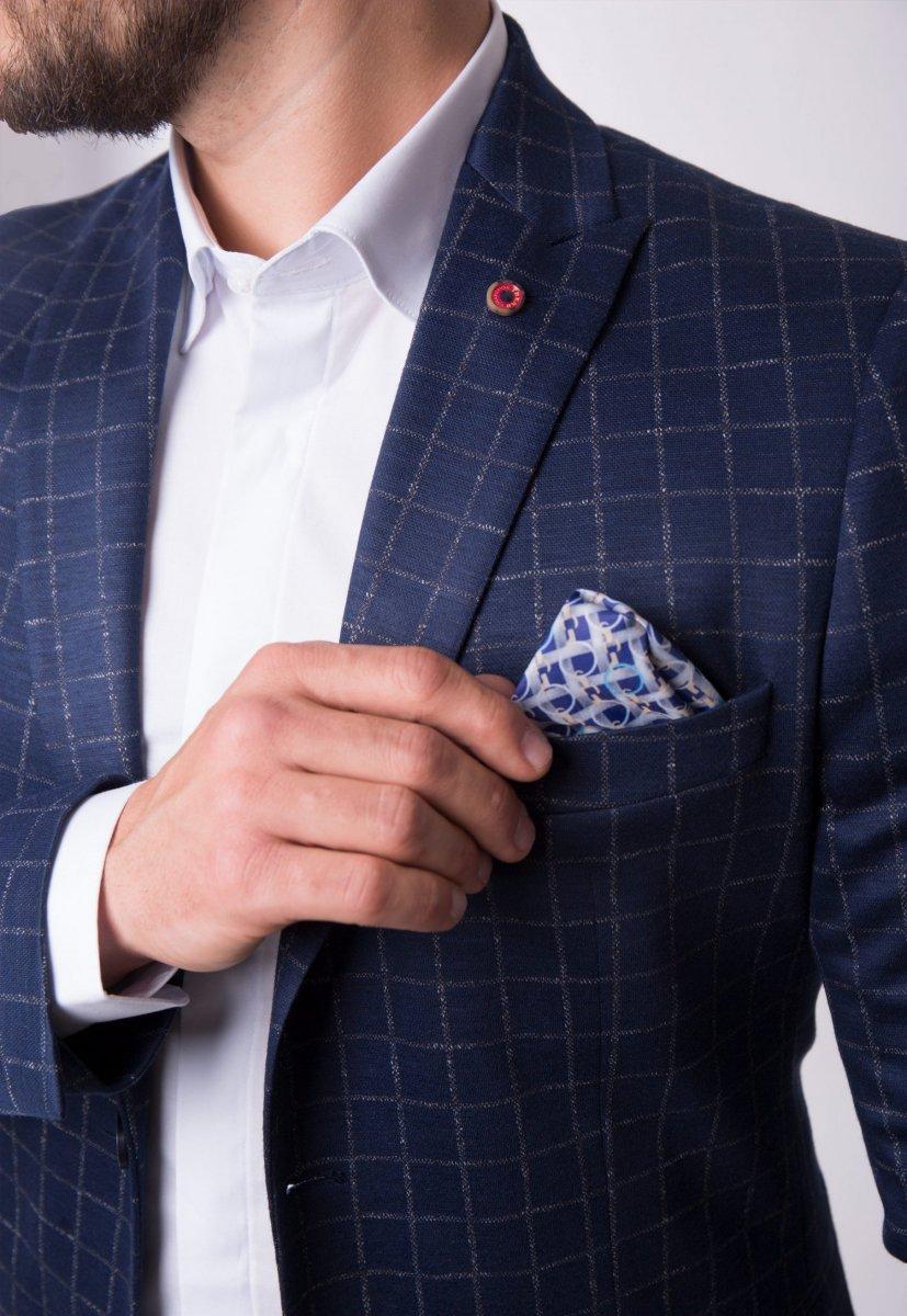 Пиджак Trend Collection 3720 Синий + клетка - Фото 1