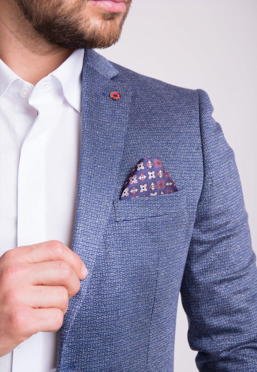Пиджак Trend Collection 3745 Серо-синий - Фото