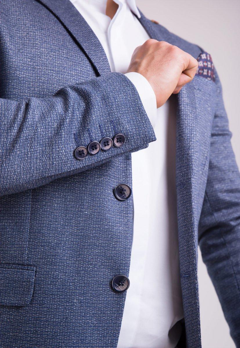 Пиджак Trend Collection 3745 Серо-синий - Фото 1