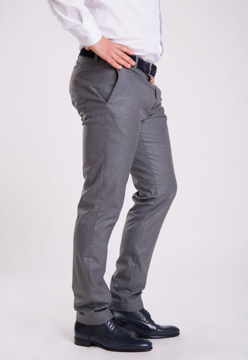 Брюки Trend Collection G838-2 Серый + полоска - Фото