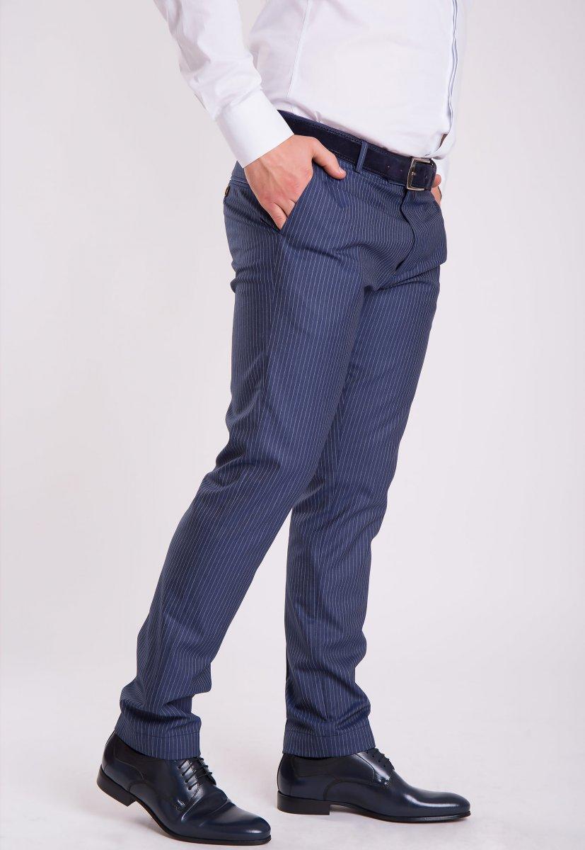 Брюки Trend Collection G838-1 Синий + полоска - Фото