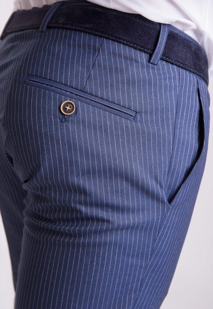 Брюки Trend Collection G838-1 Синий + полоска - Фото 1