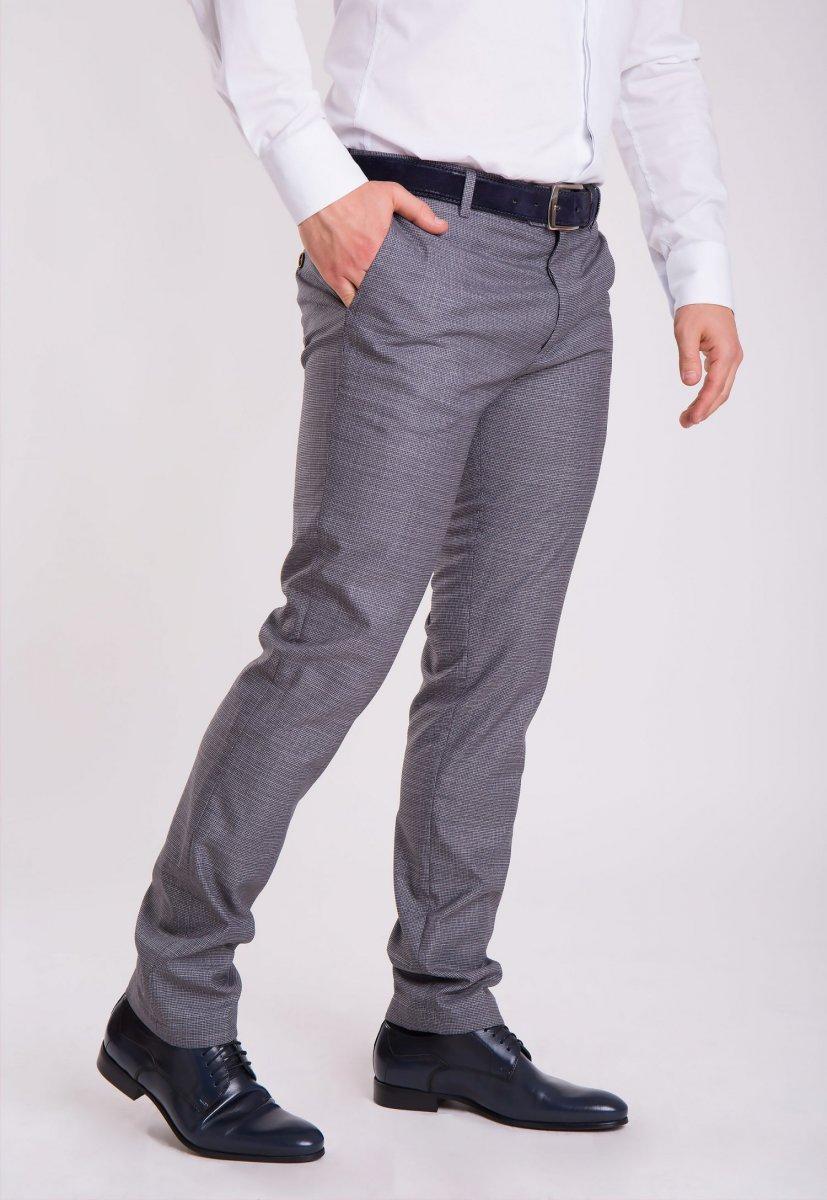 Брюки Trend Collection G838-3 Серый + клетка - Фото