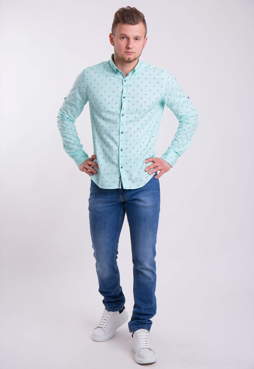 Рубашка Trend Collection 0004 Мята+очки (Green) - Фото 1