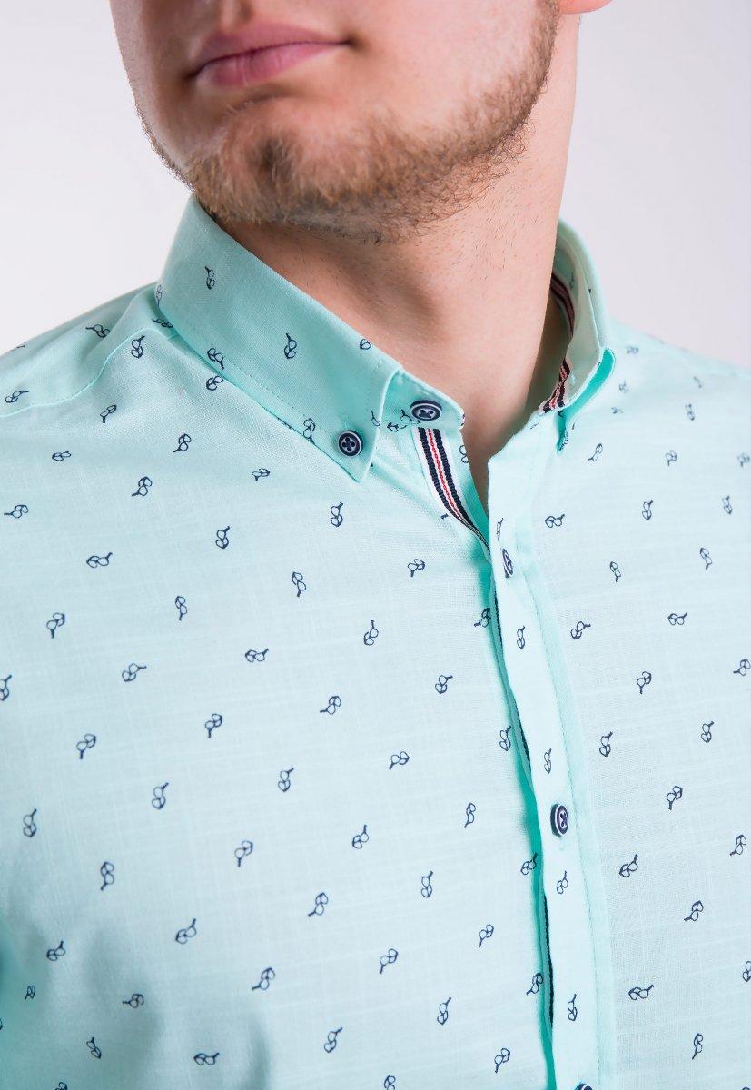 Рубашка Trend Collection 0004 Мята+очки (Green) - Фото 2