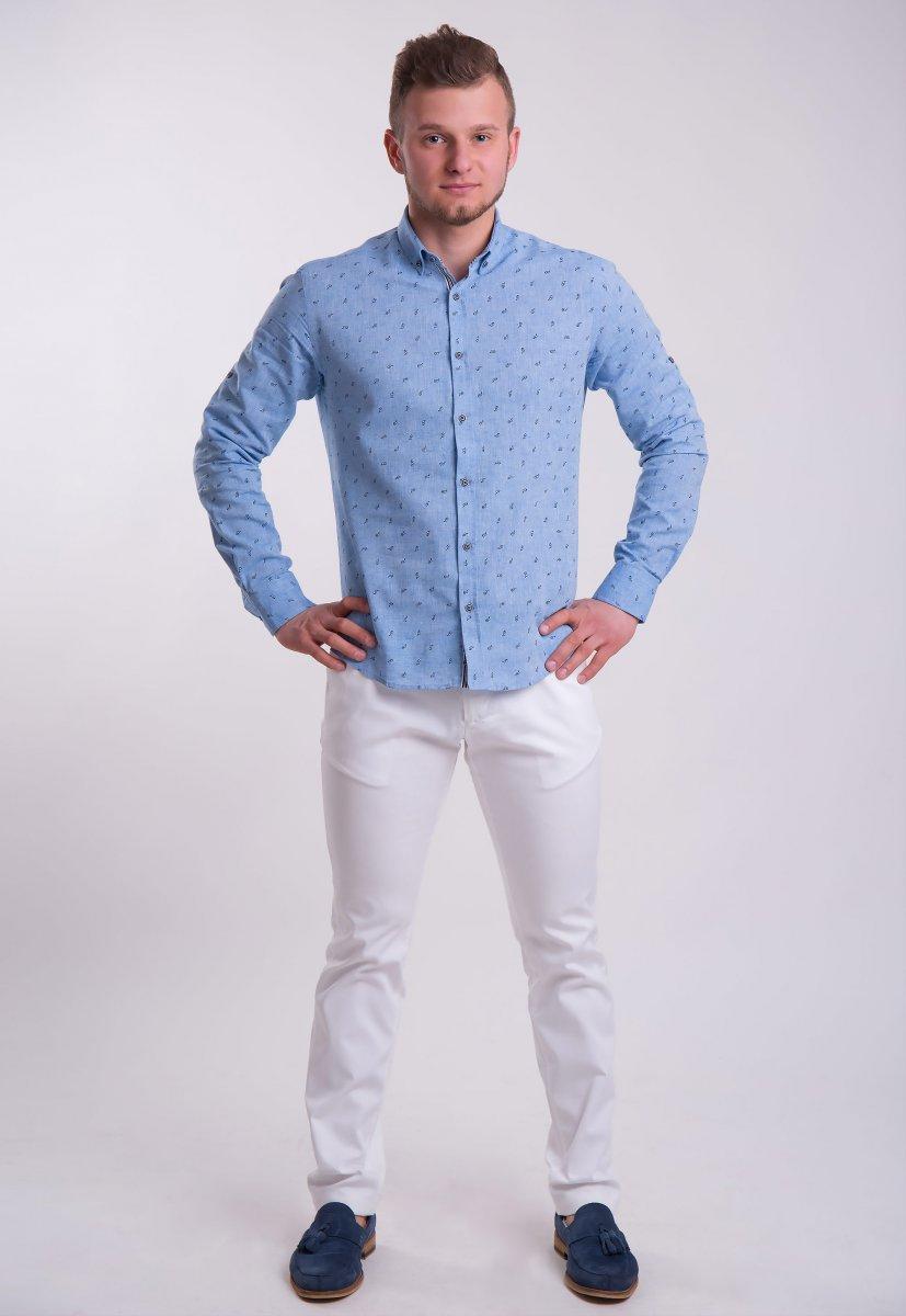 Рубашка Trend Collection Небесный+очки 0004 (Dark Blue) - Фото