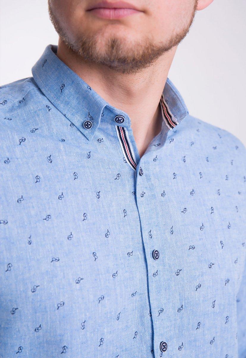 Рубашка Trend Collection Небесный+очки 0004 (Dark Blue) - Фото 1