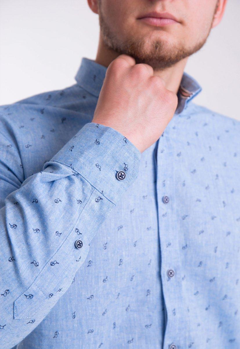 Рубашка Trend Collection Небесный+очки 0004 (Dark Blue) - Фото 2