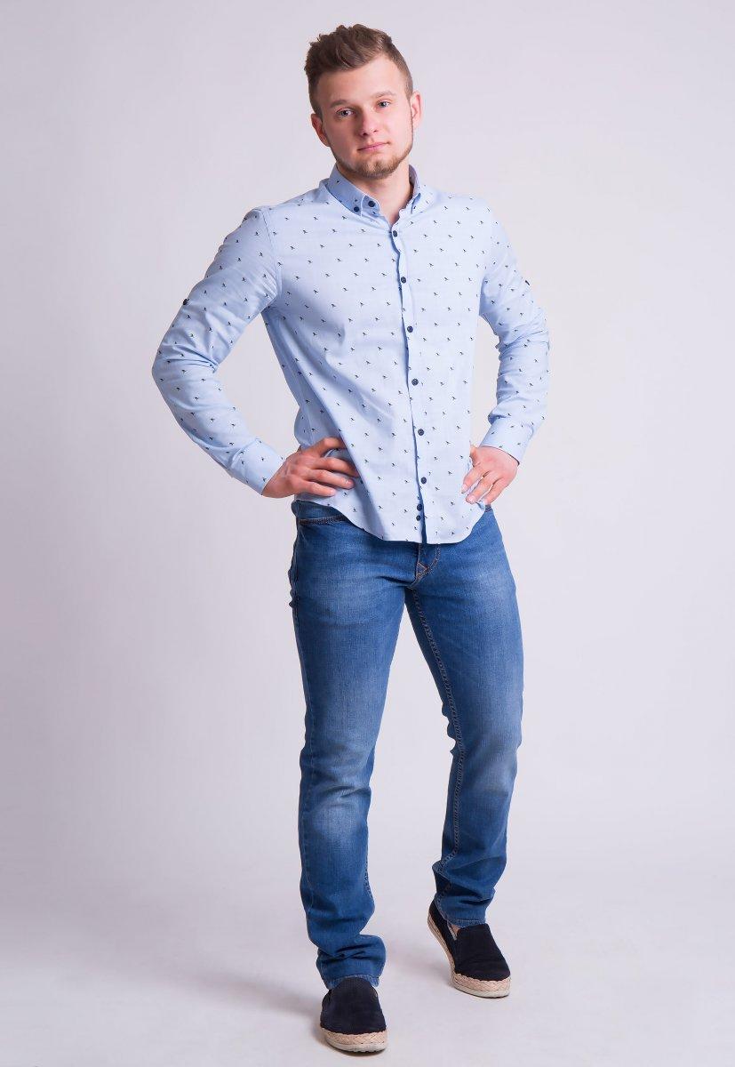 Рубашка Trend Collection 0005 Небесный+кораблики (Blue) - Фото