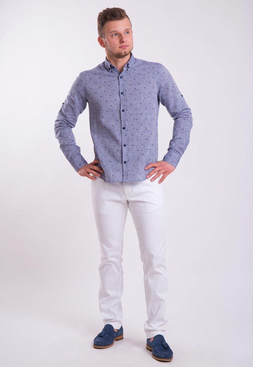 Рубашка Trend Collection 0005 Серый+кораблики (Grey) - Фото