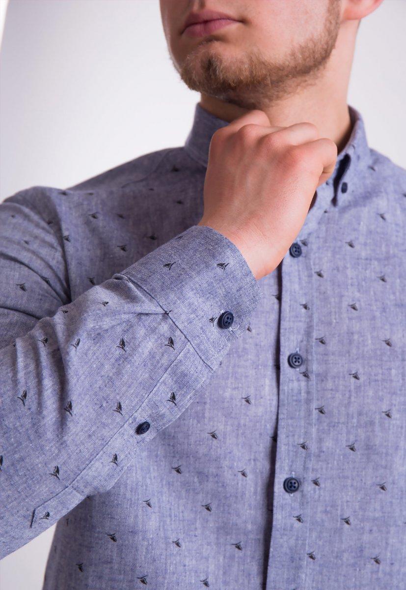 Рубашка Trend Collection 0005 Серый+кораблики (Grey) - Фото 1