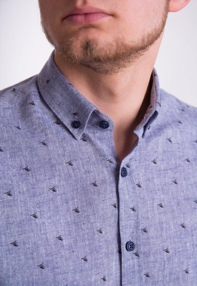 Рубашка Trend Collection 0005 Серый+кораблики (Grey) - Фото 2