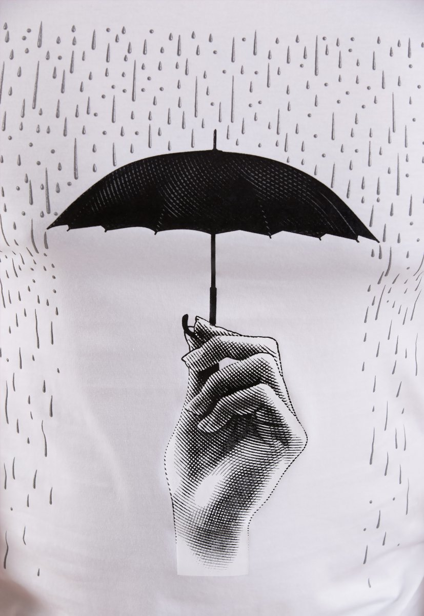 Футболка TREND Белый + зонт 2318 - Фото