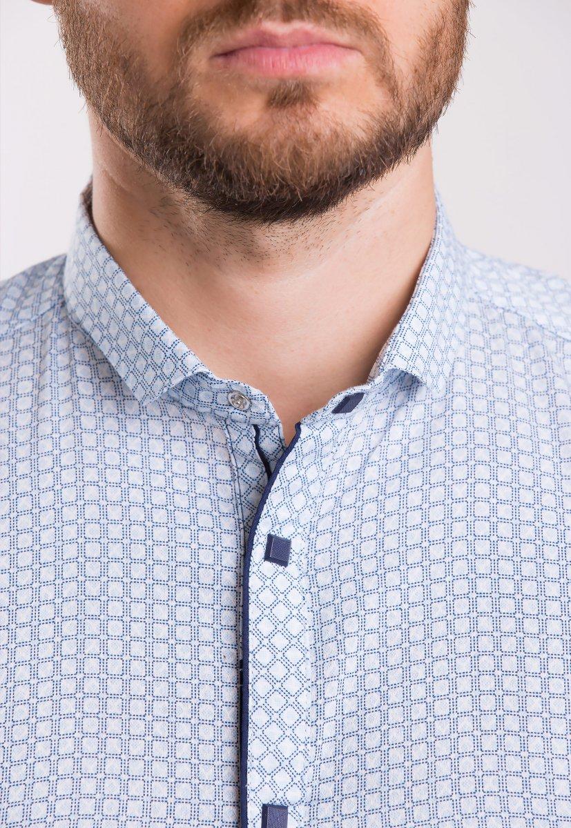 Рубашка TREND Светло-небесный + квадрат 18235 - Фото