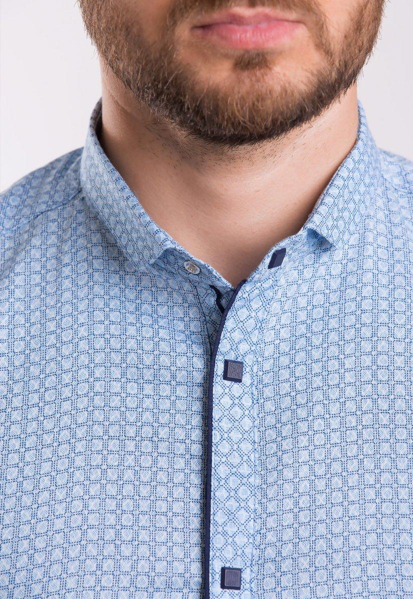 Рубашка TREND Небесный + квадрат 18235 - Фото
